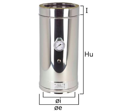 I2IC elemento per inserimento sonda test fumi e temperatura