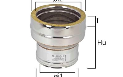I2RCDA aumento di diametro maschio-femmina concentrico