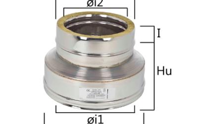 I2RCDR riduzione di diametro femmina-maschio concentrico