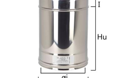 I2T3 tubo a sezione circolare con H nominale 330 mm