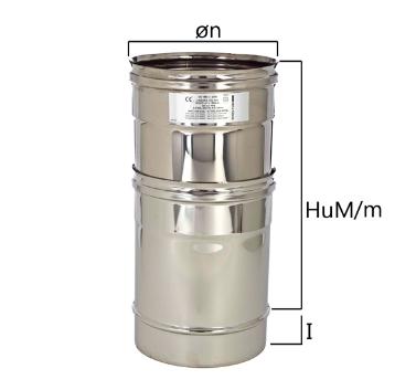 MET tubo a sezione circolare H variabile