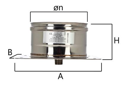 MPPC piastra di partenza con scarico condensa centrale