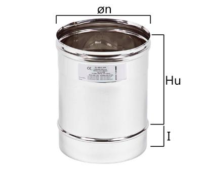 MT2 tubo a sezione circolare H nominale 250 mm
