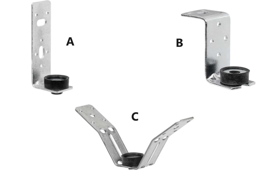 Supporti canale con antivibrante in gomma