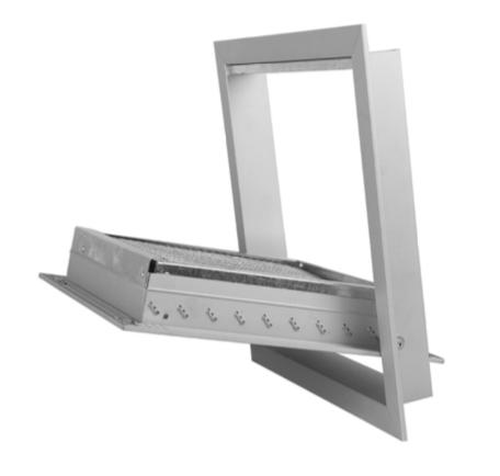 GRA-6 Griglie di aspirazione portafiltro ad alette fisse inclinate