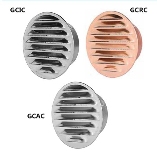 GCIC/GCRC/GCAC Griglie circolari da incasso in acciaio inox