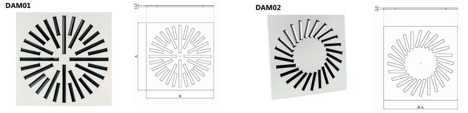DAM01 / DAM02 Diffusori alta induzione
