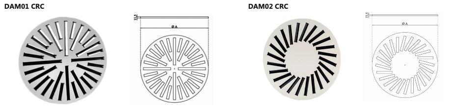 DAM01 CRC - DAM02 CRC diffusori alta induzione