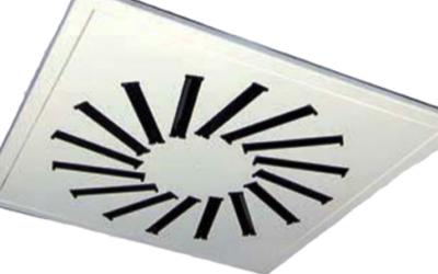 DAM61 Diffusore ispezionabile su pannello quadro
