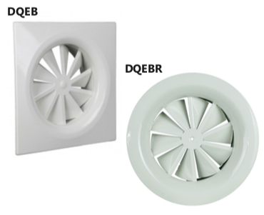 DQEB/DQEBR Diffusore a geometria fissa bombato