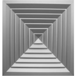 AQNA Diffusori multidirezionali a 4 vie con parte centrale asportabile