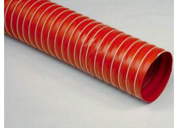 P4 Tubo flessibile realizzato con uno strato di tessuto in fibra di vetro spalmato di silicone