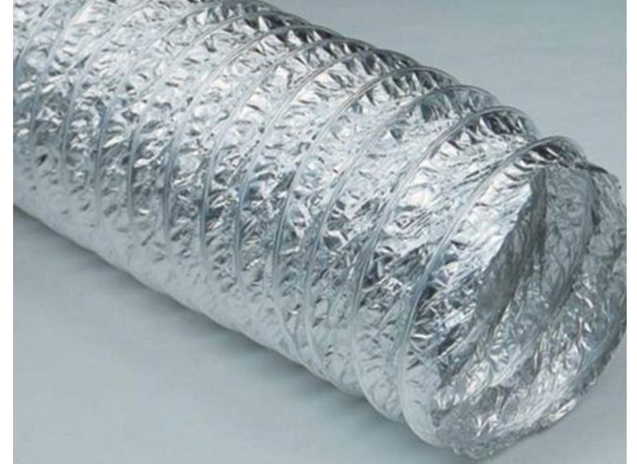 AL Condotto flessibile realizzato con parete di AL/PET/AL (alluminio/poliestere/alluminio)