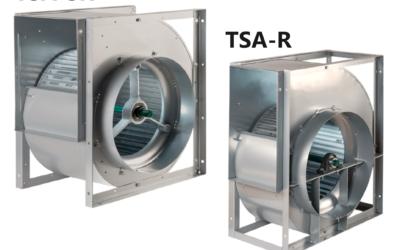 TSA-SR/TSA-R Ventilatori centrifughi a semplice aspirazione a trasmissione realizzati in acciaio zincato