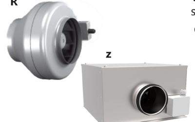 R/Z Ventilatori in linea con corpo in plastica o lamiera d'acciaio sandzimir R/Z